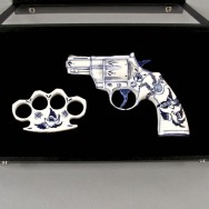 Colt 357 Trooper with Brass Knuckles