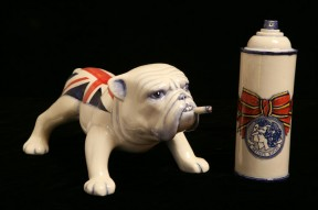 Britannia Bulldog w/ Spray Paint Can