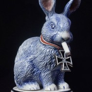Smoking Bunny w/ Iron Cross