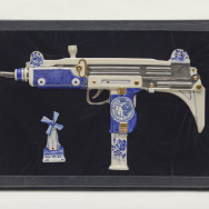 Artists Rifles Large Uzi w/ Windmill Thermometer