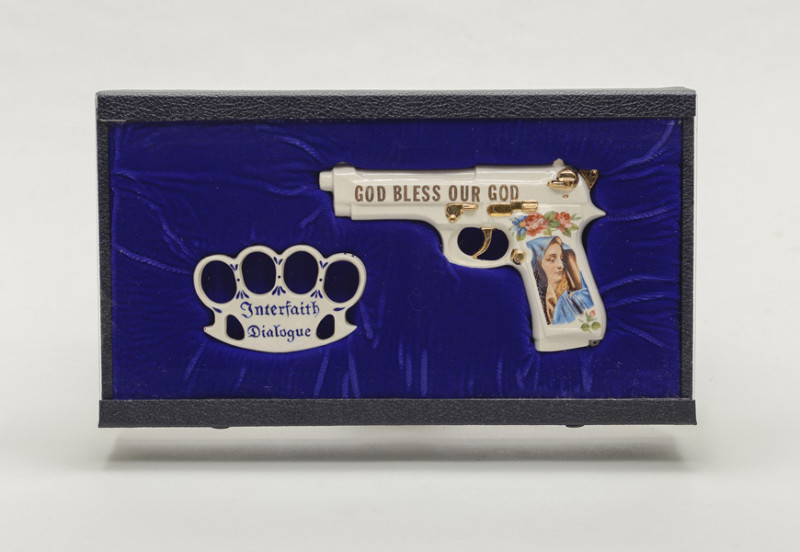 """God Bless Our God"" Beretta w/ Knuckle Dusters"